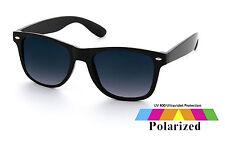 Black Wayfarre Sunglasses With Polarised Lens Retro Vintage Mens Ladies Unisex