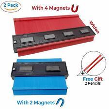 2 Piece Contour Gauge Duplication Shape Tools with Magnets + 2 Pencils