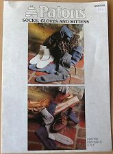 PATONS KNITTING BOOK No. C44 Socks/Gloves/Mittens in 4 Ply C 44