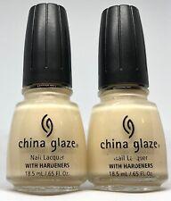 China Glaze Nail Polish Light Mist 134 Sheer Milky Off White Subtle Pink Shimmer