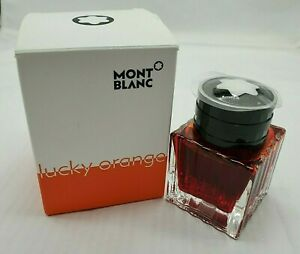 Montblanc Fountain Pen Ink Lucky Orange 30ml In Inkwell