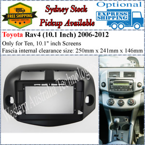 For 10 Ten Inch Screen Fascia facia Fits Toyota Rav4 Rav-4 Rav 4 Dash Kit