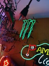 Monster Energy Drink Neon Light Sign Big Man Cave Sale Check It Out Hard To Find