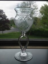"Rare Pairpoint Glass ""Veneti"" Engraved Vase #1818 As Is"