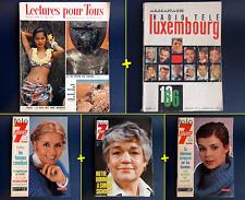 Lot 5 Magazines Vintage - Je sais tout + Télé 7 jours + Radio Tele Luxembourg