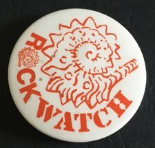 Vintage Badge Rock Watch Fossils Geology 4.5cm Pin B034