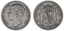1 SILVER PESETA / 1 PESETA PLATA. ALFONSO XII. MADRID 1876*. VF/MBC.
