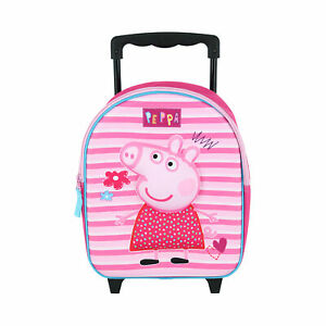 New Textiel Trade Nickelodeon Kids' Peppa Pig Rolling Backpack Luggage