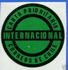 CHILE, OFFICIAL CORREOSCHILE UNUSED POSTAL STICKER # 07