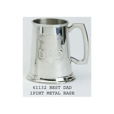 PELTRO Boccale 1pt- del mondo Best Dad - INCISIONE GRATUITA