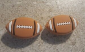 Lot of 2 Football shoe charms for Crocs shoes. Other uses Craft, Scrapbook