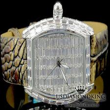 New BlingMaster Watch White 1Ct Lab Diamond Baguette Style Joe BM Rodeo Jojino