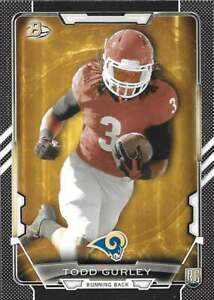 2015 Bowman Football - Paper Black Parallel Rookie RC Cards - You Pick!