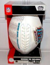 2008 Official Nfl Super Bowl Xlii Champions Full Size Football Nyg Ne Patriots