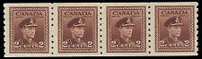 "CANADA 264 - King George VI ""War Effort""  Strip of Four (pa3536)"