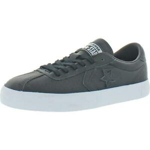 Converse Womens Breakpoint Ox Black Leather Skate Shoes 7 Medium (B,M)  9654