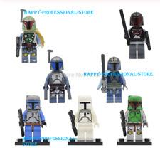 7 pcs white boba fett Mandalorian JANGO Fett star wars Minifigures Lego MOC