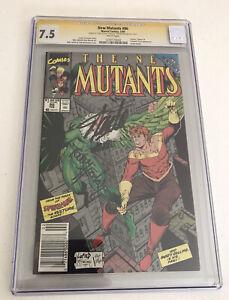 New Mutants 86 CGC 7.5 Double Signature Todd McFARLANE Stan Lee RARE!
