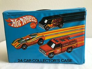 Mattel Car Collector's Case for 24 cars 1975 style 8227 with 2 wht Trays U.S.A.