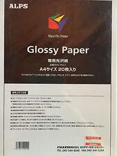 Glossy Paper, Carta Patinata per OKI/ALPS, 20 fogli, formato A4, MDS-PGLY