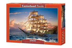 Castorland C-151431 Puzzle Sailing At Sunset Meer Segelschiff Küste 1500 Teile