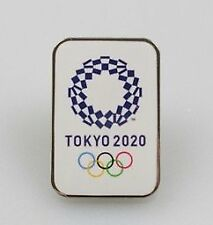 Tokyo 2020 Official Olympic Emblem Pin Badge Square 01 Official License Goods