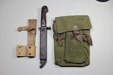 Type 1 Numbers Matching Romanian Bayonet Leather & Frog 3-Cell Magazine Pouch