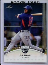 "TIM TEBOW 2016 LEAF DRAFT BASEBALL ""1ST EVER PRINTED"" ROOKIE CARD #2! & BONUS"