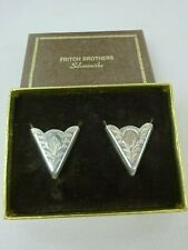 Vintage Fritch Brothers Sterling Silver Western Collar tips