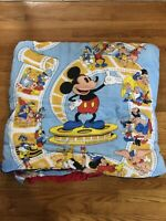 Vintage Sportline Disney Animated Cinema Sleeping Bag 34x69 Mickey Mouse *WARN*