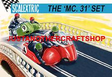 Scalextric MC31 Motocicleta & Sidecar Set 1964 Gran Póster Signo de anuncio Shop A3