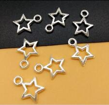 Wholesale 30pcs Tibet Silver Hollow star Charm Pendant Beaded Jewelry 148