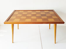 TABLE BASSE RECTANGULAIRE A DAMIER 1950 VINTAGE ROCKABILLY 50S 50'S