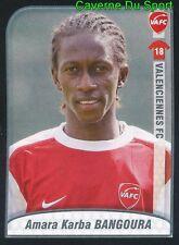 506 AMARA BANGOURA GUINEA ROOKIE VALENCIENNES.FC STICKER FOOT 2009-2010 PANINI
