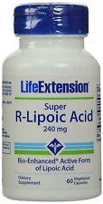 Life Extension super R-liponsäure 240 MG 60 Veggie Caps