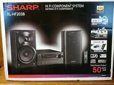 Sharp XL-HF203B Hi-Fi Component Stereo Speaker System with High Resolution Audio