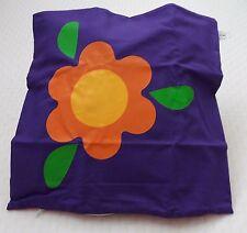 Childrens Cushion Cover - Purple + Orange & Yellow Flower