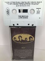 The Beatles - Love Songs 1977 Cassette Tape Capitol 4X2B 11711 McCartney Lennon