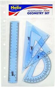 Helix 20cm Geometry Set, Blue, Children's Gift, Maths Back to School