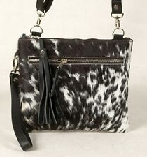Real Cowhide Cross body Purse Handbag & Hand Clutch  Cow Hide Leather  CC-346