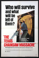 THE TEXAS CHAINSAW MASSACRE TOBE HOOPER HORROR 1974 BRYANSTON 1-SHEET