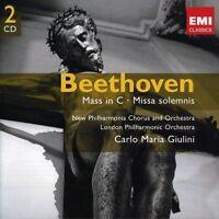 CARLO MARIA GIULINI - MISSA SOLEMNIS/MESSE C-DUR 2CD CHOR KLASSIK NEU BEETHOVEN