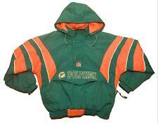 Vintage Starter Miami Dolphins Pro Line Big Pocket Pullover Jacket Mens Small