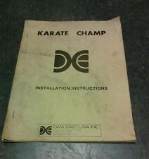 Data East Karate Champ Arcade Video Game Manual - good used original