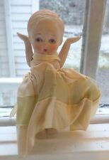 Three Vintage Dolls Two Cloth and One Bisque All Original Clothes 1930's-1940's