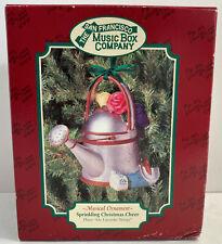 San Francisco Music Box Company Musical Ornament Sprinkling Christmas Cheer