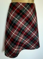 Hobbs 100% Wool Tartan Mini Skirt Sz 10 Excellent! Winter