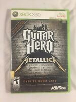 Guitar Hero: Metallica (Microsoft Xbox 360, 2009) Complete TESTED