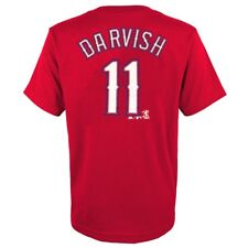 Majestic Athletic Youth Texas Rangers Yu Darvish Player Name and Number T-shirt Large