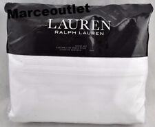 Ralph Lauren Spencer 475 Thread Count Sateen Queen Sheet Set White